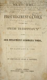 Sketches of the First regiment Ga. vols by Oscar Alexander Cantrell