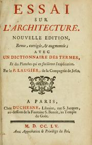 essay architecture marc antoine laugier Does all architecture derive from only three elements found in a primitive form explore marc-antoine laugier's 18th century architectural theories.