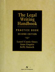 Cover of: The legal writing handbook by Laurel Currie Oates