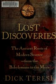 Lost discoveries PDF