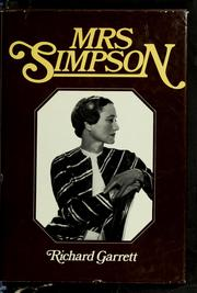 Mrs. Simpson by Richard Garrett