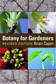 Botany for gardeners by Brian Capon