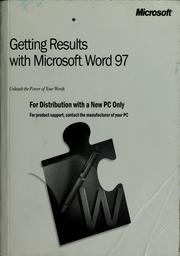Getting results with Microsoft Word 97