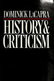 History & criticism by Dominick LaCapra