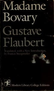 Cover of: Madame Bovary by Gustave Flaubert