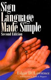 Sign language made simple by Edgar D. Lawrence