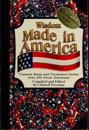 Wisdom made in America PDF