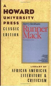 Runner Mack by Barry Beckham