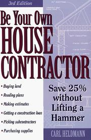 Be your own house contractor PDF