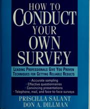 Cover of: How to conduct your own survey by Priscilla Salant