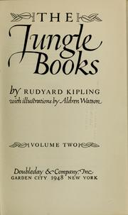 Cover of: The jungle books by Rudyard Kipling