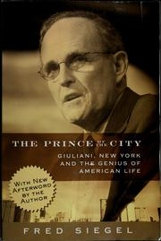 The prince of the city by Fred Siegel