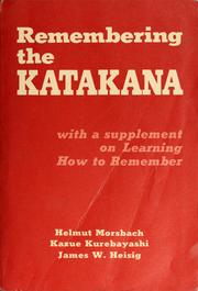 Remembering the Katakana by Helmut Morsbach