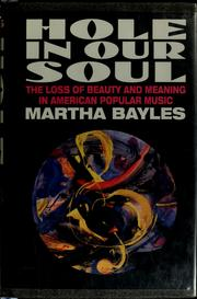 Hole in our soul by Martha Bayles