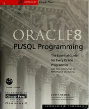 Oracle8 PL/SQL programming by Scott Urman