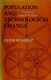 Population and technological change by Ester Boserup
