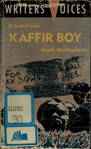 Selected from Kaffir boy by Mark Mathabane