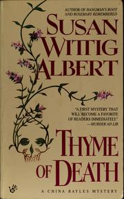 Cover of: Thyme of death by Susan Wittig Albert