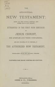 Cover of: The Apocryphal New Testament by Judith Martin
