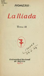 Cover of: La Iliada by Homer
