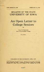 An open letter to college seniors PDF