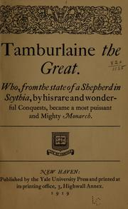 Cover of: Tamburlaine the Great by Christopher Marlowe