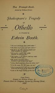 Shakespeare's tragedy of Othello by William Shakespeare