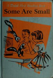 Cover of: Some are small by Edward W. Dolch