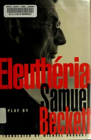 Cover of: Eleuthéria by Samuel Beckett
