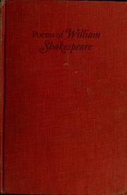 Poems by William Shakespeare