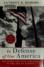 In defense of our America by Anthony D. Romero