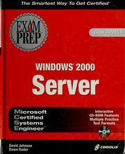 MCSE Windows 2000 server exam prep PDF