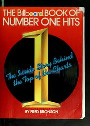 Cover of: The Billboard book of number one hits by Fred Bronson