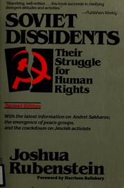 Soviet dissidents by Joshua Rubenstein