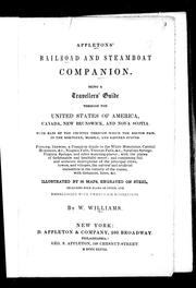 Cover of: Appletons' railroad and steamboat companion by W. Williams