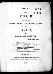 Diary of a tour through the northern states of the Union, and Canada PDF