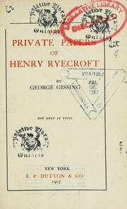 The private papers of Henry Ryecroft PDF