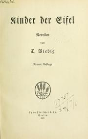 Cover of: Kinder der Eifel by Clara Viebig