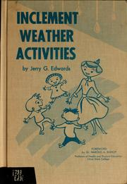 Cover of: Inclement weather activities by Jerry G. Edwards