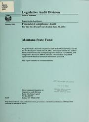 Montana State Fund by Montana. Legislature. Legislative Audit Division