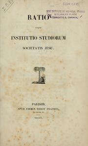 Ratio atque institutio studiorum societatis Jesu PDF