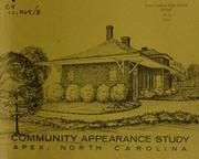 Community appearance study, Apex, North Carolina PDF