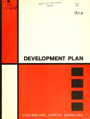 Development plan, Louisburg, North Carolina by North Carolina. Division of Community Planning