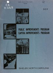 Public improvements program, capital improvements program, Shelby, North Carolina by North Carolina. Division of Community Planning