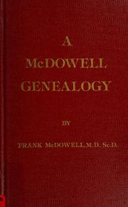 Cover of: A McDowell genealogy by Frank McDowell