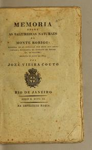 Cover of: Memoria sobre as salitreiras naturaes de Monte Rorigo by Jos Vieira Couto