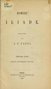 Cover of: Iliade by Homer
