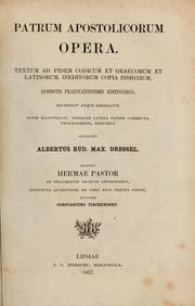Patrum apostolicum opera