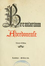 Cover of: Breviarium aberdonense by Catholic Church