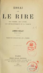 Essai sur le rire by Sully, James